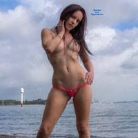 Hot in Pink - Beach, Big Tits, Bikini Voyeur, Redhead, Tattoos