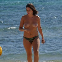 Spanish Girl - Beach, Brunette, Medium Tits
