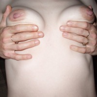 Medium tits of my ex-wife - shy and pert