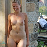 Bri Nude in Dresden City - Flashing, Public Exhibitionist, Public Place, Shaved, Hard Nipples, Medium Tits, Pussy