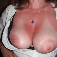 Very large tits of my wife - Kat
