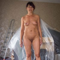 Renovation - Pussy, Medium Tits, Brunette, Shaved, Brunette, Shaved, Hard Nipples