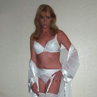 White Nite - Lingerie, Blonde, Medium Tits