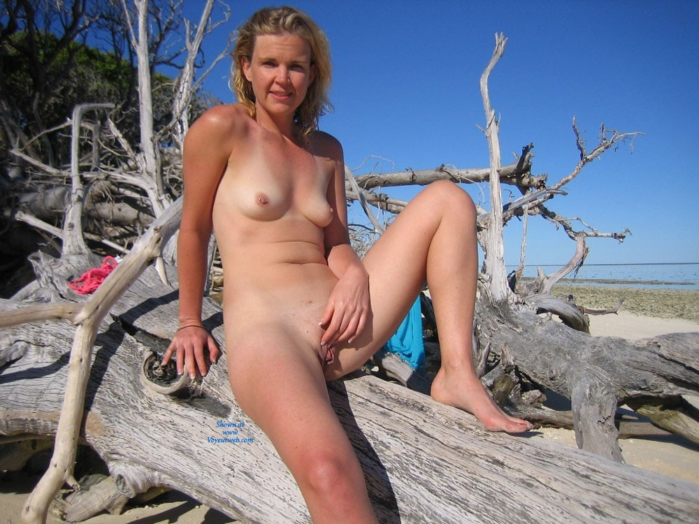 Pic #1 - Tropical Island - Blonde Hair, Hard Nipple, Small Tits, Beach Voyeur , I Just Love To Be Naked On The Beach. The Sea Air Does Something To Me That Makes Me Take My Clothes Off!
