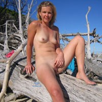 Tropical Island - Blonde Hair, Hard Nipple, Small Tits, Beach Voyeur