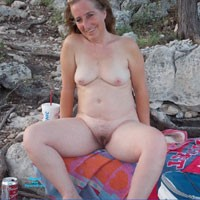 Playing at The Lake - Nature, Brunette, Medium Tits, Natural Tits, Pussy, Bush Or Hairy