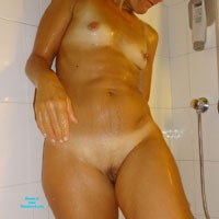 Hot Shower - Wife/Wives, Beautiful Ass, Blonde, Hard Nipples, Small Tits, Wet