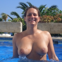Large tits of a co-worker - Sarah