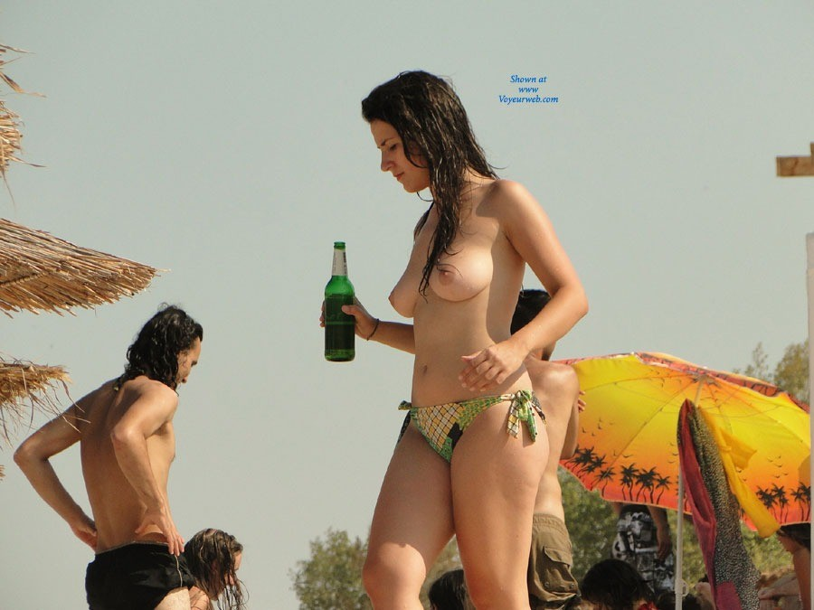 Pic #1 - Having Fun - Brunette Hair, Beach Voyeur