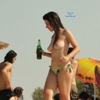 Having Fun - Beach, Brunette