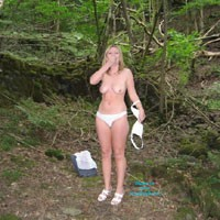 Summer in The Woods - Blonde Hair, Nude In Public, Nude Outdoors, Perfect Tits, Pussy Lips, Shaved