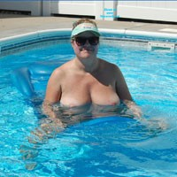 Playing in The Pool - Big Tits, Blonde, Pussy, Shaved