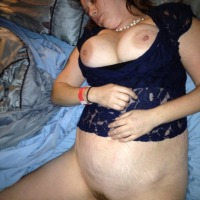 Very large tits of my wife - J