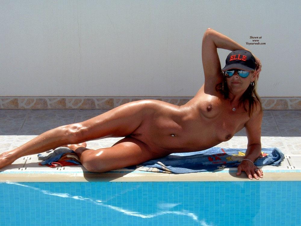 Poolside Tanning - Bikini, Nude Outdoors, Wet