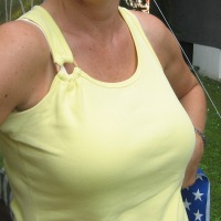 Extremely large tits of a neighbor - Nicole