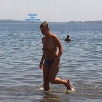 Topless at The Lake - Beach