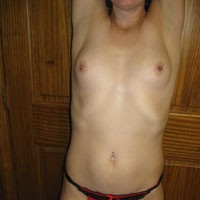 First Time - Hard Nipples, Brunette, Lingerie