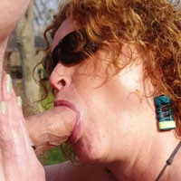 Public Park - Nude Outdoors, Redhead