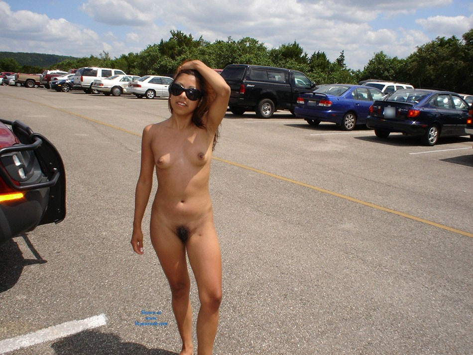 Brunette tits stockings milf parking lot