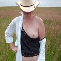 Cutting Loose in Nebraska - Bush Or Hairy, Brunette, Dressed, Hard Nipples, Medium Tits, Nature