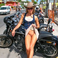 Bike Show - Big Tits, Bikini, Exposed In Public, Flashing, Hard Nipple, Nude In Public, Pussy Lips, Shaved, Beach Voyeur