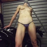 Posing on The Motorbike - Small Tits, Firm Ass, Close-Ups, Lingerie, Wife/Wives