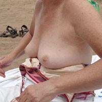 Down by The River - Beach, Mature, Medium Tits, Bikini Voyeur, Blonde, Flashing, Public Place