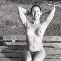 Nude in The Park - Brunette, Big Tits, Public Place