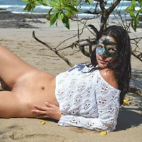 Hot in The Beach - Brunette Hair, Flashing, Perfect Tits, Pussy Lips, Shaved, Beach Voyeur, Sexy Ass