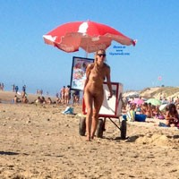 Ice Cream Merchant on Naturists Beach - Beach