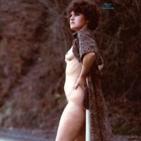Vintage in Public.. Why Not? - Small Tits, Bush Or Hairy, Brunette, Hard Nipples, Public Exhibitionist, Public Place, Pussy