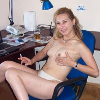 Around The House - Hard Nipples, Blonde, Lingerie, Pussy, Small Tits, Bush Or Hairy