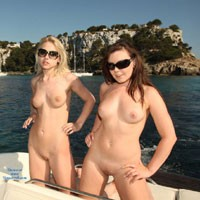 Naked Into Port - Blonde Hair, Brunette Hair, Exposed In Public, Hard Nipple, Natural Tits, Navel Piercing, Nude In Public, Perfect Tits, Pussy Lips, Shaved, Beach Voyeur, European And/or Ethnic