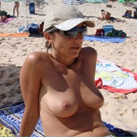 Free at The Beach - Bikini, Brunette Hair, Perfect Tits, Beach Voyeur