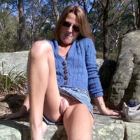 The Park - Brunette, Dressed, Public Place, Pussy, Shaved