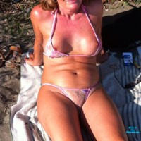 At The Beach - Beach, Bikini Voyeur, Blonde, Hard Nipples, Medium Tits, MILF, Wife/Wives