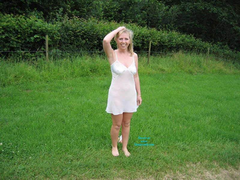 Pic #1 - As Nature Intended - Big Tits, Blonde Hair, Nude In Public, Nude Outdoors, Pussy Lips, See Through, Shaved , Kez Enjoying The Autumn
