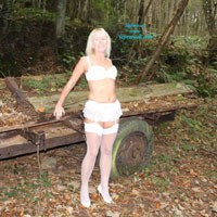 What The Farmer Missed - Blonde, High Heels Amateurs, Lingerie, Hard Nipples, Medium Tits, Nature