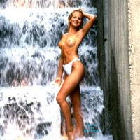 At The Forecourt Fountain - Blonde Hair, Exposed In Public, Hard Nipple, Long Legs, Nude In Public, Perfect Tits, Pussy Lips, Round Ass, Wet, Sexy Ass