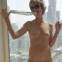 G at The Hotel Bathroom Window - Mature, Medium Tits