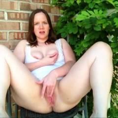 More Balcony Fun - Big Tits, Masturbation, Shaved, Toys