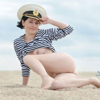 Sexy Captain - Beach, Brunette, Costume