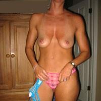 New Panties - Wife/Wives, Blonde, Hard Nipples, Lingerie