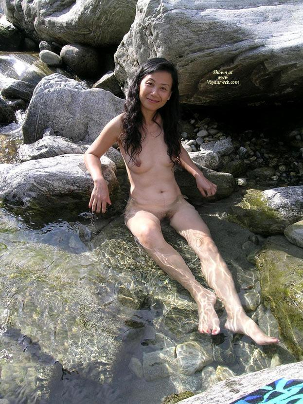 Pic #1 - In 'Piccolo Paradiso' (Part 2) - Asian Girl, Brunette Hair, Nude In Public , Thank You Very Much For All The Nice Comments! They Really Encouraged Little Chinese Princess To Post Some More Pictures ... - And We Hope You Like Them, Too!