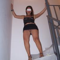 Mini Skirt! - Dressed, High Heels Amateurs, Brunette, Lingerie, Big Ass