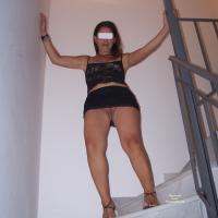 Mini Skirt! - Dressed, High Heels Amateurs, Brunette, Lingerie, Big Ass