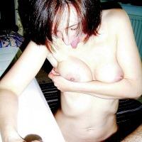 Very small tits of my girlfriend - Italian Secretary