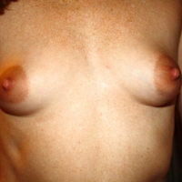 Very small tits of my wife - Mary