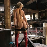 Burnt Out Nightclub in Vienna - Blonde, High Heels Amateurs, Hard Nipples, Medium Tits, Tattoos