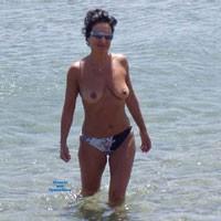 Topless - Beach, Brunette, Firm Ass, Lingerie